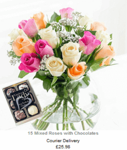 flowers next day with chocolates
