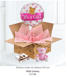 baby girl helium balloon