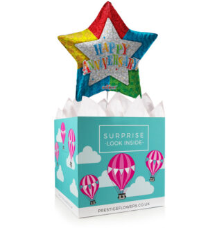Anniversary Balloon Box - Balloon in a Box Gifts - Anniversary Balloons - Anniversary Balloon Gifts - Balloon Gifts