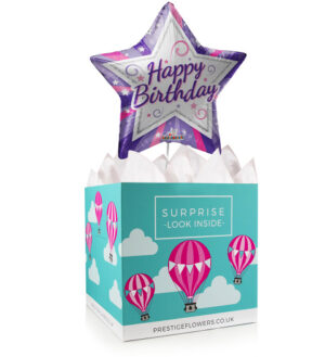 Birthday Star - Balloon in a Box Gifts - Balloon Gifts - Birthday Balloons - Birthday Balloon in a Box