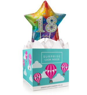 Happy 18th Birthday - Balloon in a Box Gifts - Birthday Balloon Gifts - Balloon Gift Delivery - Balloon for Birthday