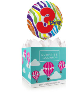 Happy 3rd Birthday - Balloon in a Box Gifts - 3rd Birthday Balloons - Birthday Balloons - Balloon Gifts - Balloon Gift Delivery