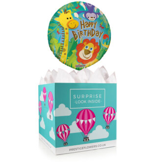 Happy Birthday Balloon Box - Balloon in a Box Gifts - Balloon Gifts - Birthday Balloon Gifts - Birthday Balloon Gift Delivery