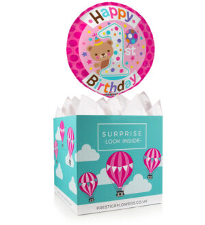 Her 5th Birthday - Balloon in a Box Gifts - Birthday Balloons - 5th Birthday Balloons - Balloon Gift Delivery